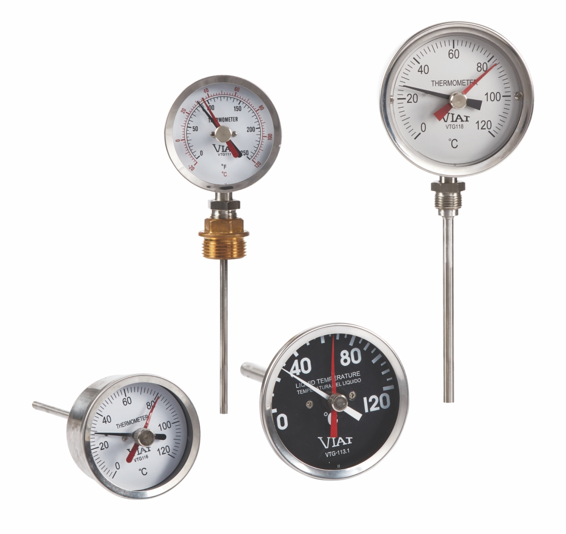 Bimetal thermometer without contact